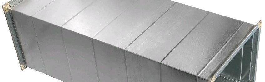 Прямые участки прямоугольных воздуховодов из оцинкованной стали