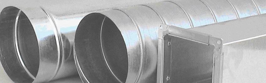 Прямые участки воздуховодов из нержавеющей стали