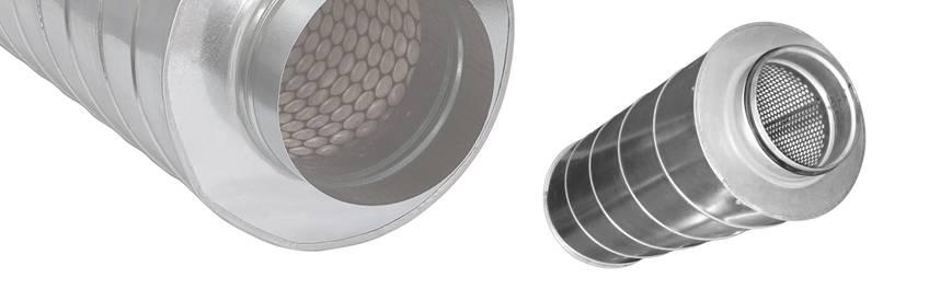 Шумоглушители для круглых воздуховодов